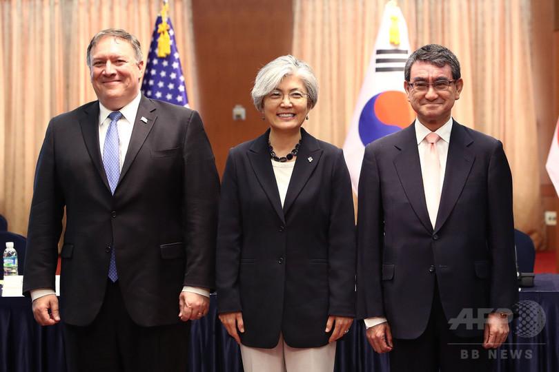 日米韓外相がソウルで会談