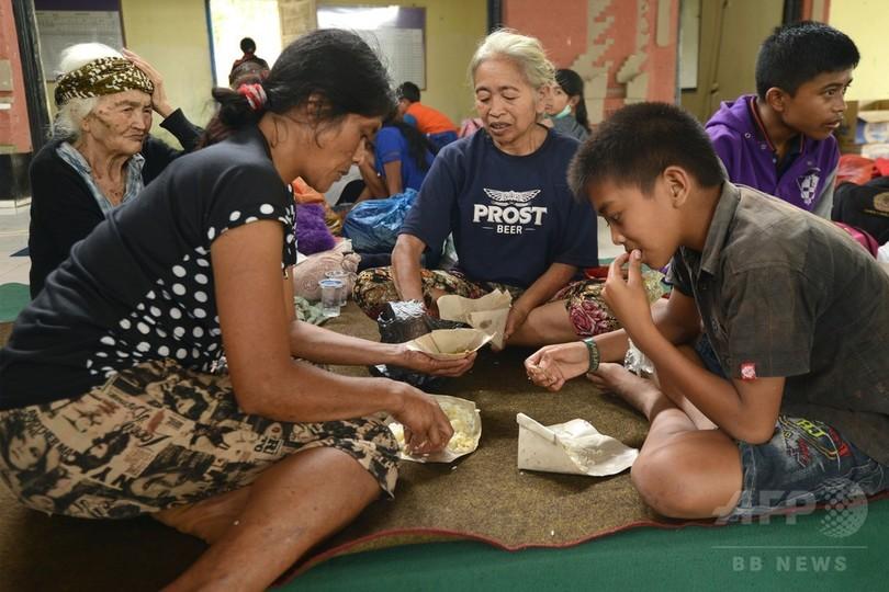 バリ島、火山噴火の恐れで約5万人が避難 当局発表