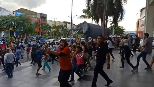 動画:インドネシア東部マルク諸島沖でM7.3の地震 発生直後の映像