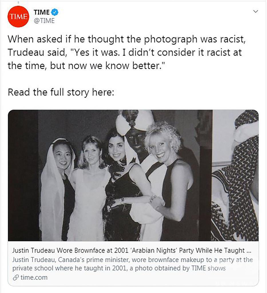 トルドー首相、今度は「黒塗り」動画浮上 再び謝罪