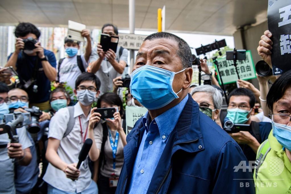 香港当局、「蘋果日報」創業者の黎智英氏ら7人逮捕 国安法違反の疑い