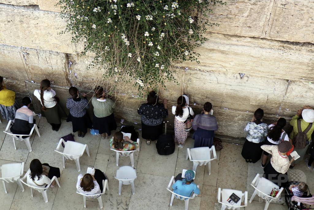 「嘆きの壁」で服脱ぎ全裸に、イスラエル人の女を拘束