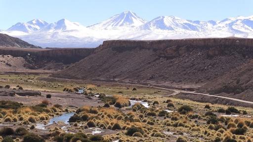 動画:雪化粧したチリ・アタカマ砂漠