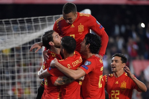 スペインがノルウェーとの初戦に競り勝つ、欧州選手権予選