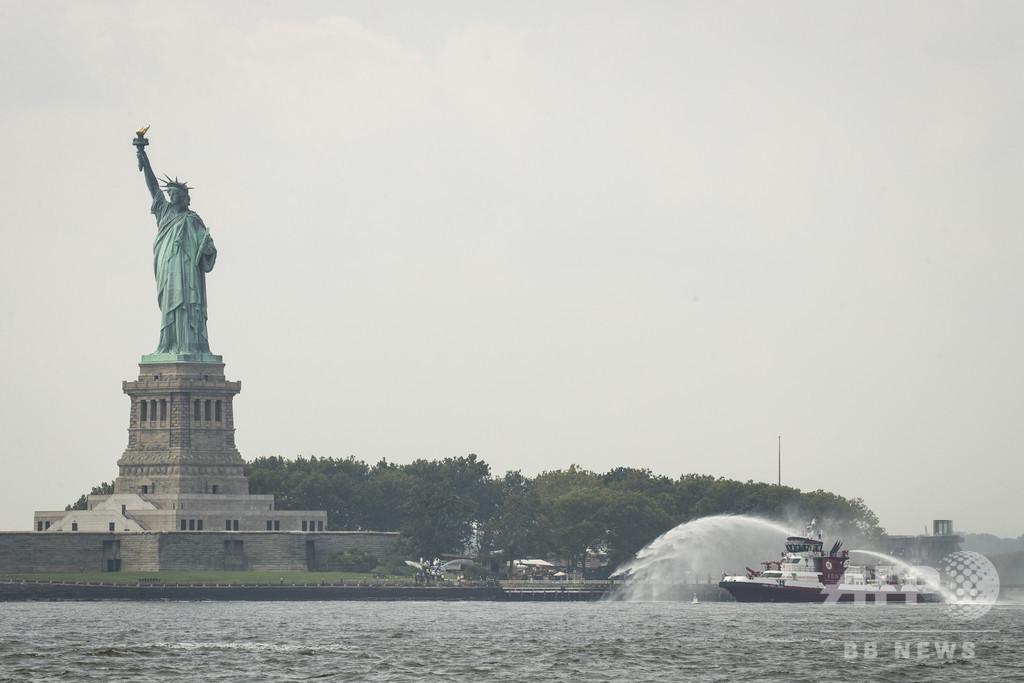 自由の女神像近くでぼや、観光客3000人超避難