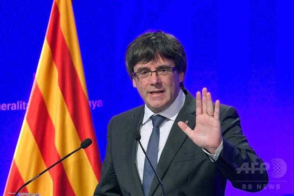 カタルーニャ独立宣言、早ければ週内にも 州首相が示唆