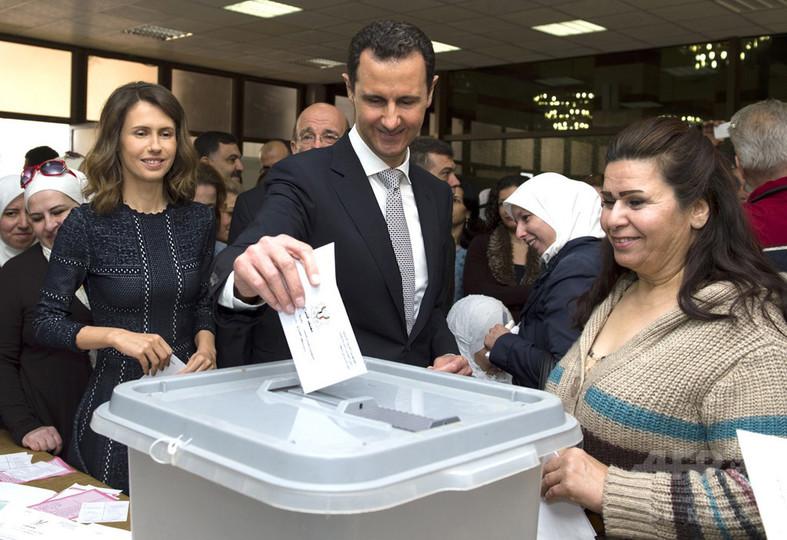 シリア、アサド政権の支配地域で議会選