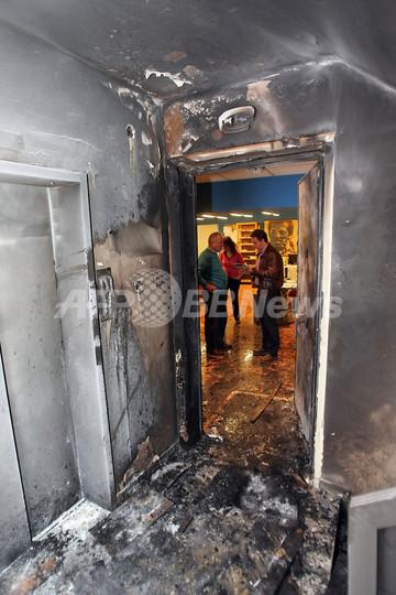 AFPアテネ支局で爆発、けが人なし