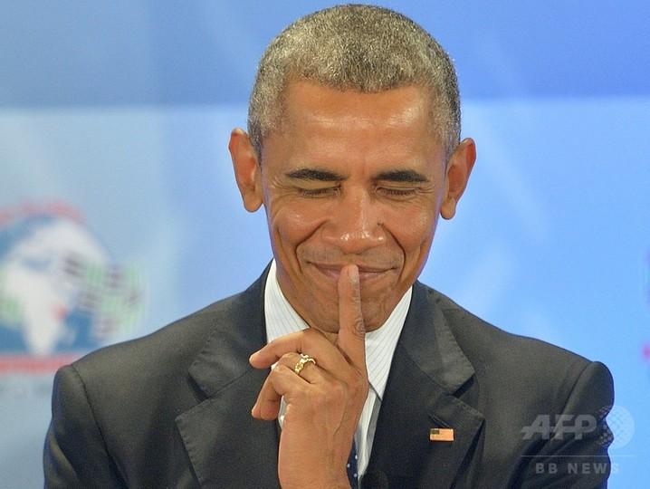 オバマ氏訪問祝う、赤ちゃんの名を「エアフォースワン」に ケニア