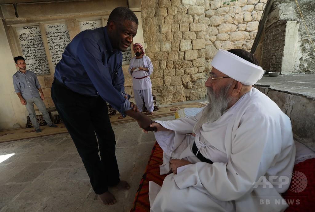 レイプ被害者支援専門医、ヤジディー教徒の精神的指導者との対話