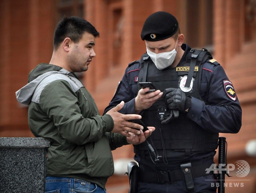 ロシアの新規感染、過去最多の1.1万人超 モスクワ封鎖延長