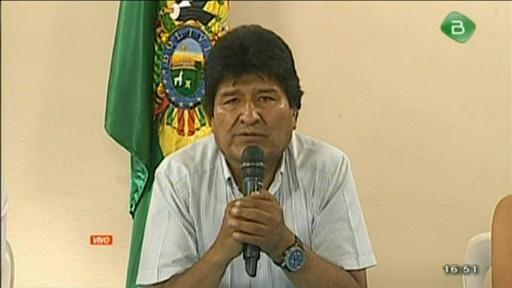 動画:ボリビアのモラレス大統領、辞意表明 軍と警察の要求受け