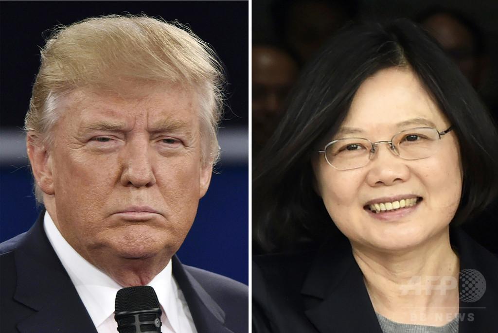 トランプ氏と蔡総統の電話会談、中国が米国に厳重抗議