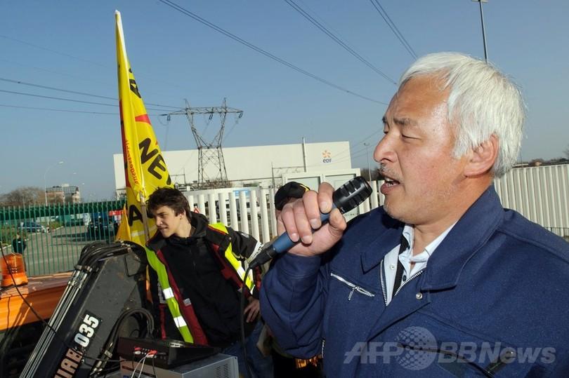 仏独国境で脱原発デモ、福島事故から3年控え