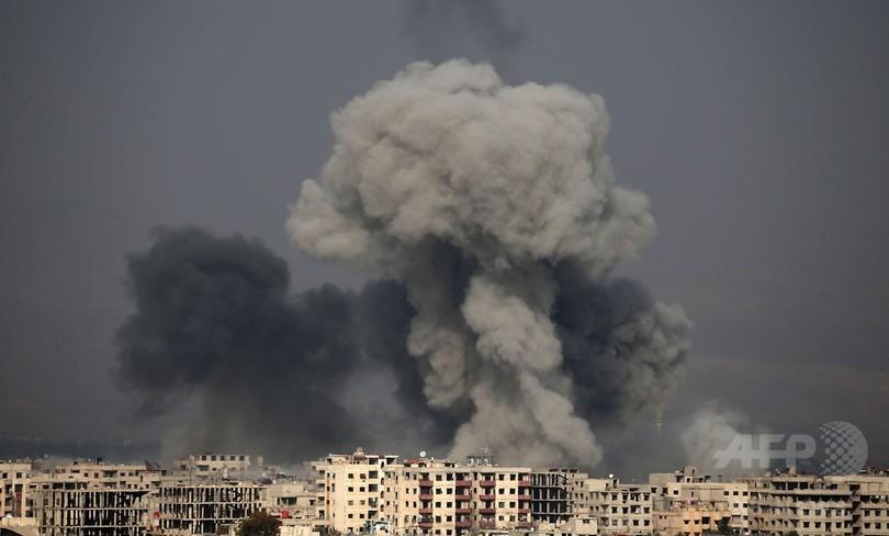 ロシアが病院空爆か シリア反体制地区、爆撃死者250人に