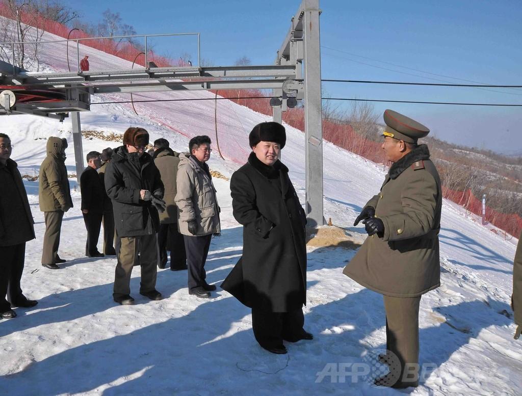 北朝鮮スキー場に禁輸対象の人工降雪機、入手ルートは不明