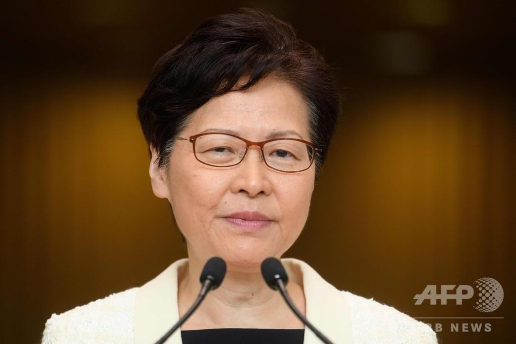 香港行政長官、辞任「考えたこともない」 音声流出は「非常に遺憾」