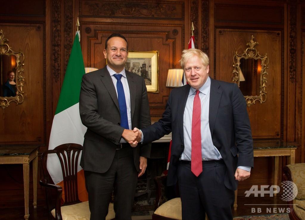 離脱合意への「道筋見える」 英・アイルランド首相が会談で一致