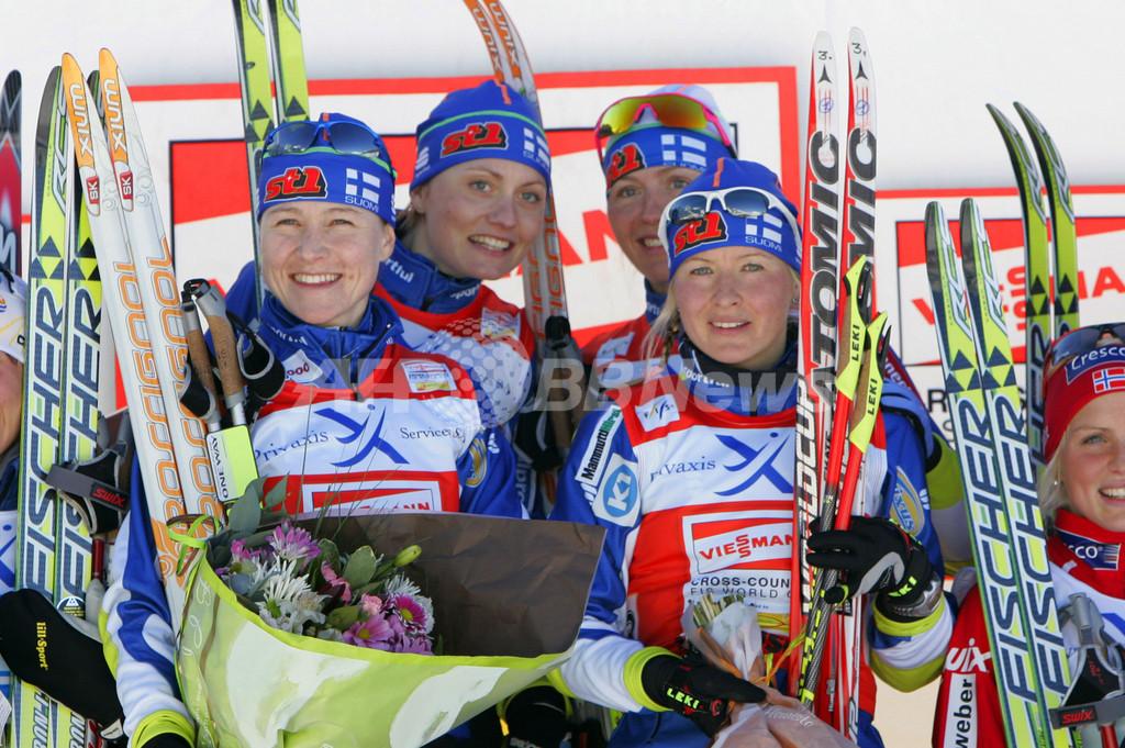 フィンランド 第3戦女子リレーを制す、スキーW杯距離