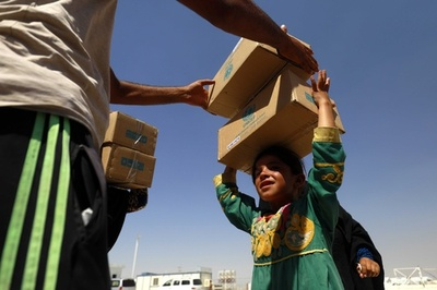 中東・北ア地域の子ども100万人、「寒空にさらされる」恐れ ユニセフ