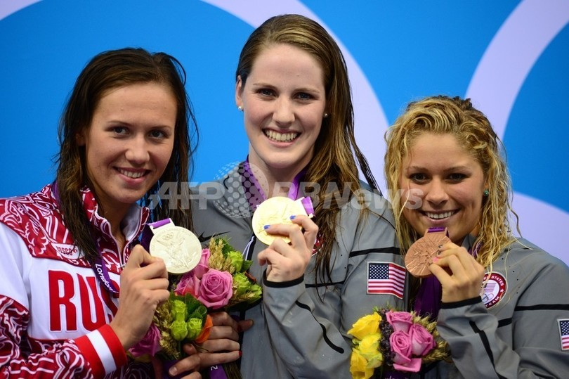17歳フランクリンが世界新で金、女子200メートル背泳ぎ