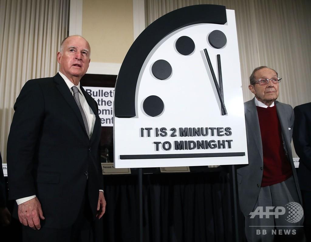 「終末時計」残り2分を維持 情報戦の拡大に警鐘