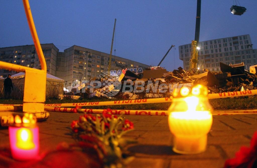 ラトビアのスーパーの屋根崩落、死者51人に