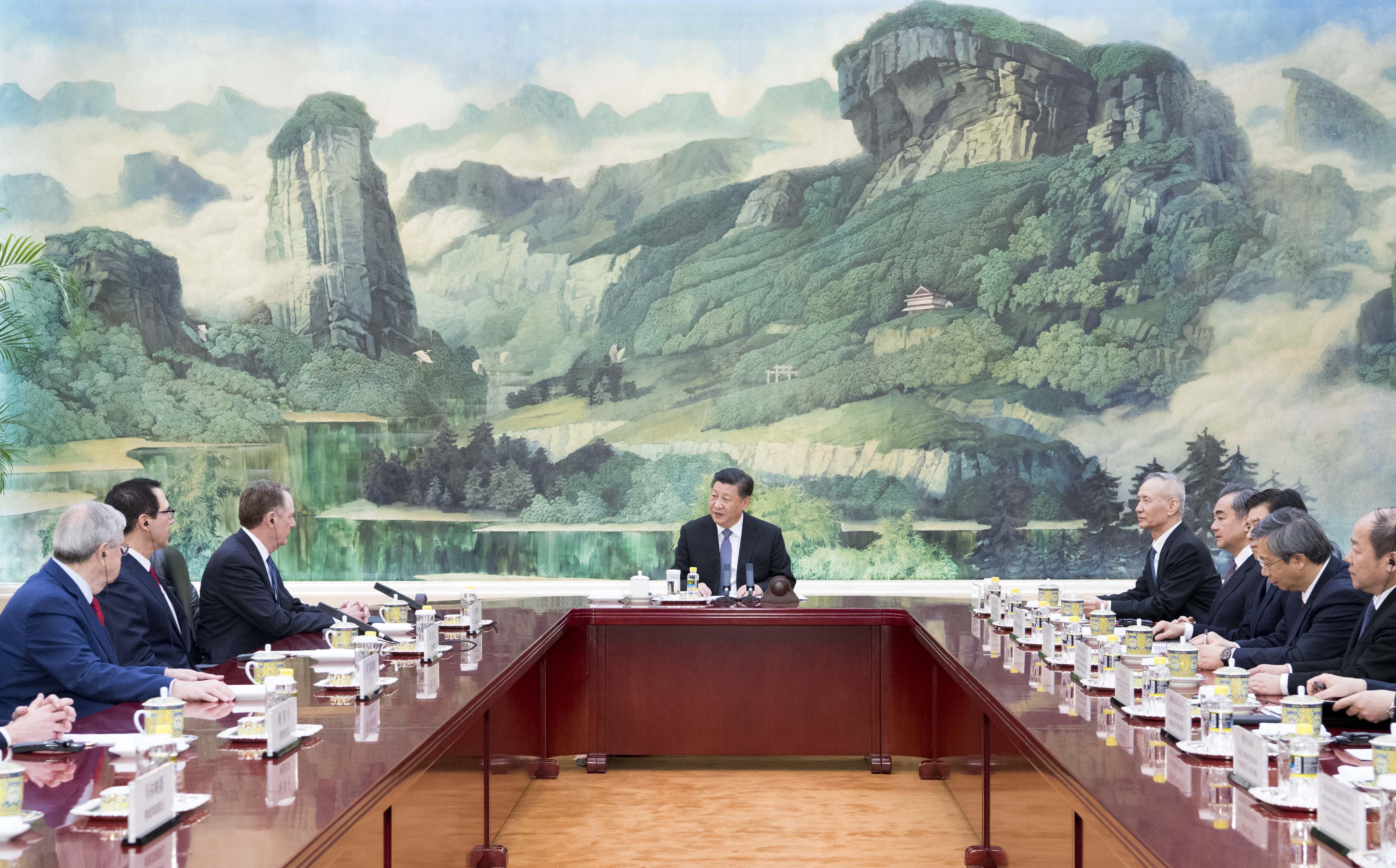 習近平主席、北京で米通商代表、財務長官と会見