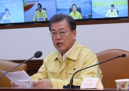 韓国、新型ウイルスへの警戒レベルを最高度に引き上げ 大統領発表