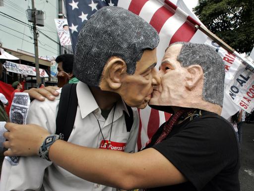 サンホセで米国との自由貿易協定締結反対の大規模集会