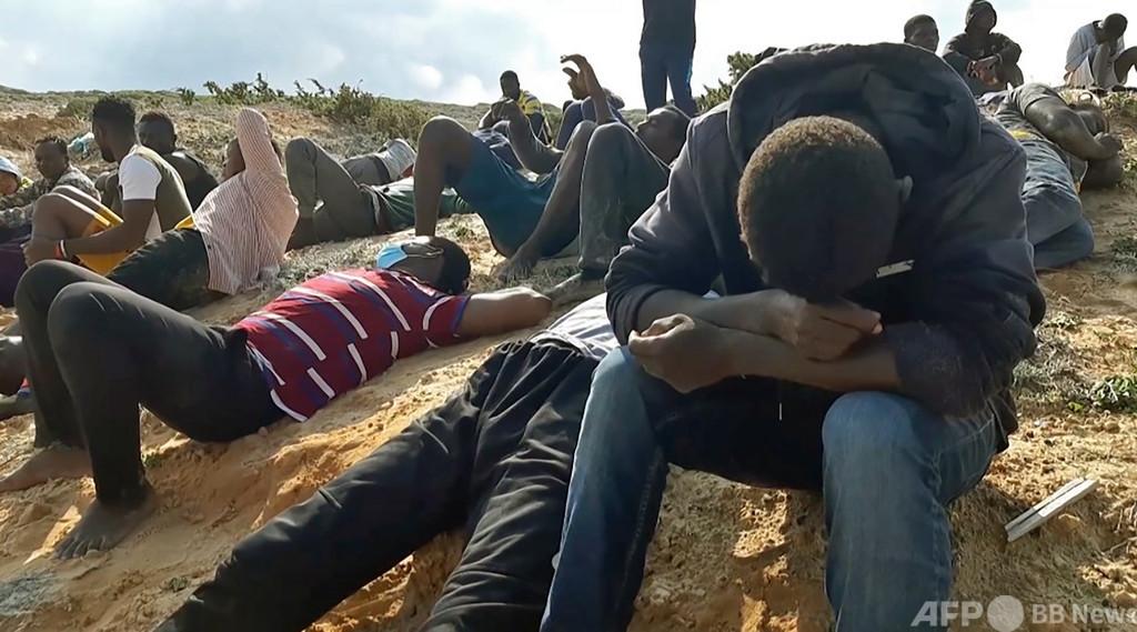移民船2隻が相次ぎ転覆、1日で死者計100人 リビア沖