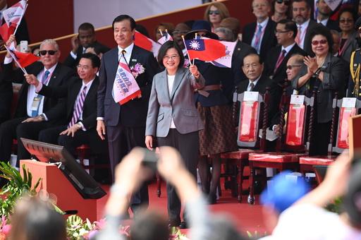 台湾で「建国108年」の祝賀式典 蔡総統は「一国二制度」を拒絶