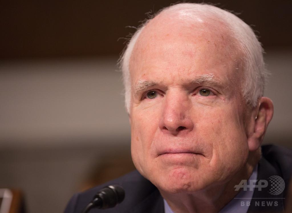闘病中のマケイン議員は「どうせ死ぬ」、トランプ氏側近が暴言か