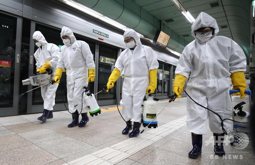 韓国で感染者594人増、合計2931人に 8割以上が大邱周辺
