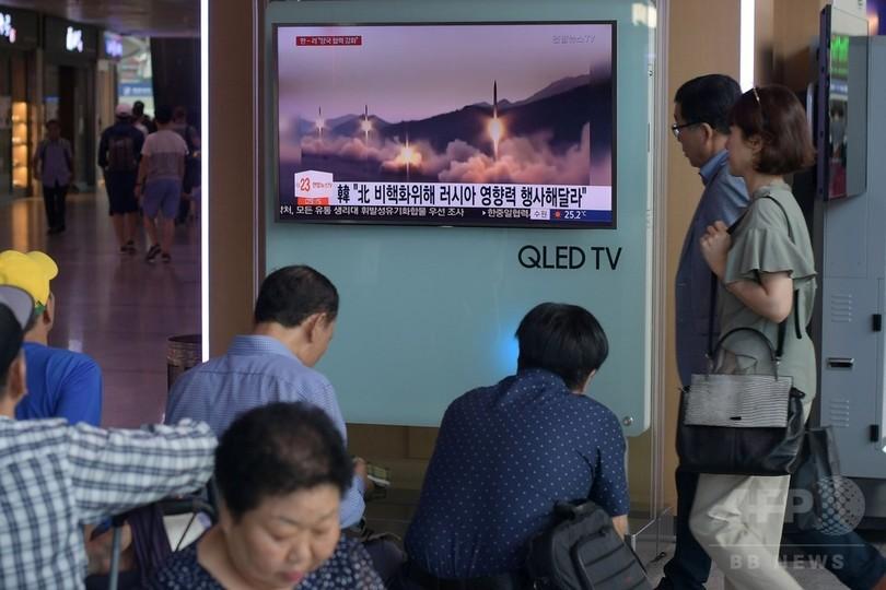 北朝鮮ミサイル発射、3発のうち「2発は飛行」 米軍が修正