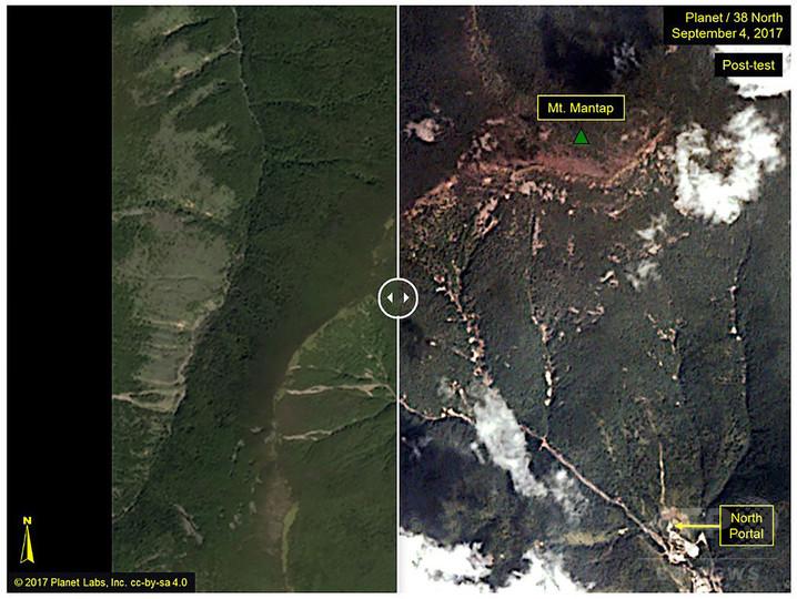 北朝鮮の核実験場付近でM2.5の自然地震、6回目の実験の余波か