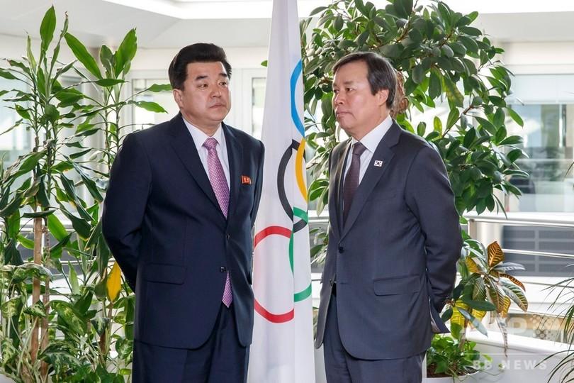 韓国と北朝鮮が合同チーム結成へ、4競技で東京五輪の出場目指す