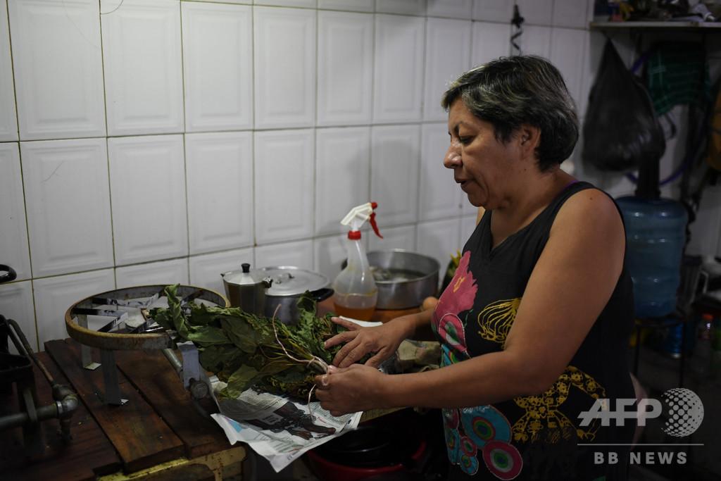 信仰治療院や薬草販売、かつてない盛況ぶり 経済危機のベネズエラ