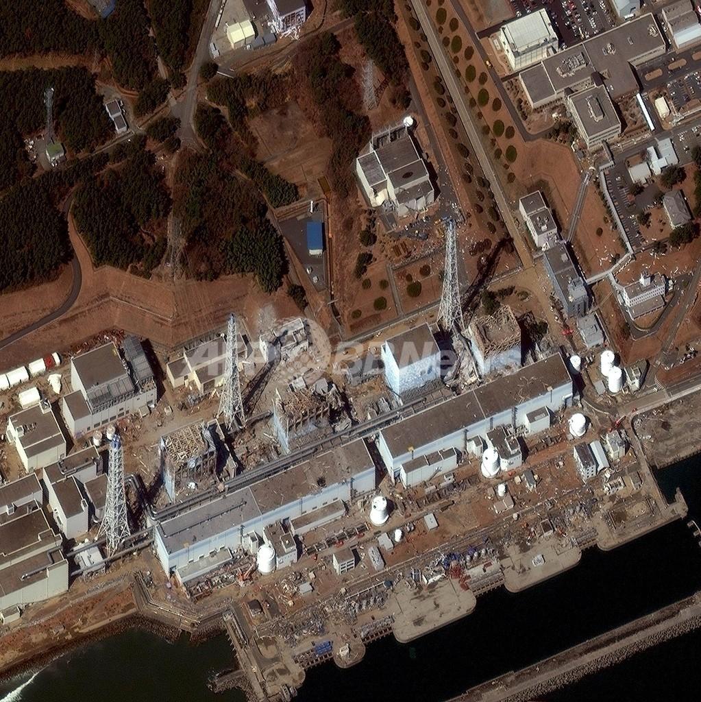 福島第1原発への放水作業再開、NHK