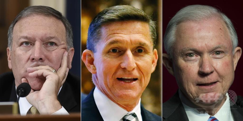 トランプ氏、新政権3職に強硬派 司法・CIA長官と安保補佐官