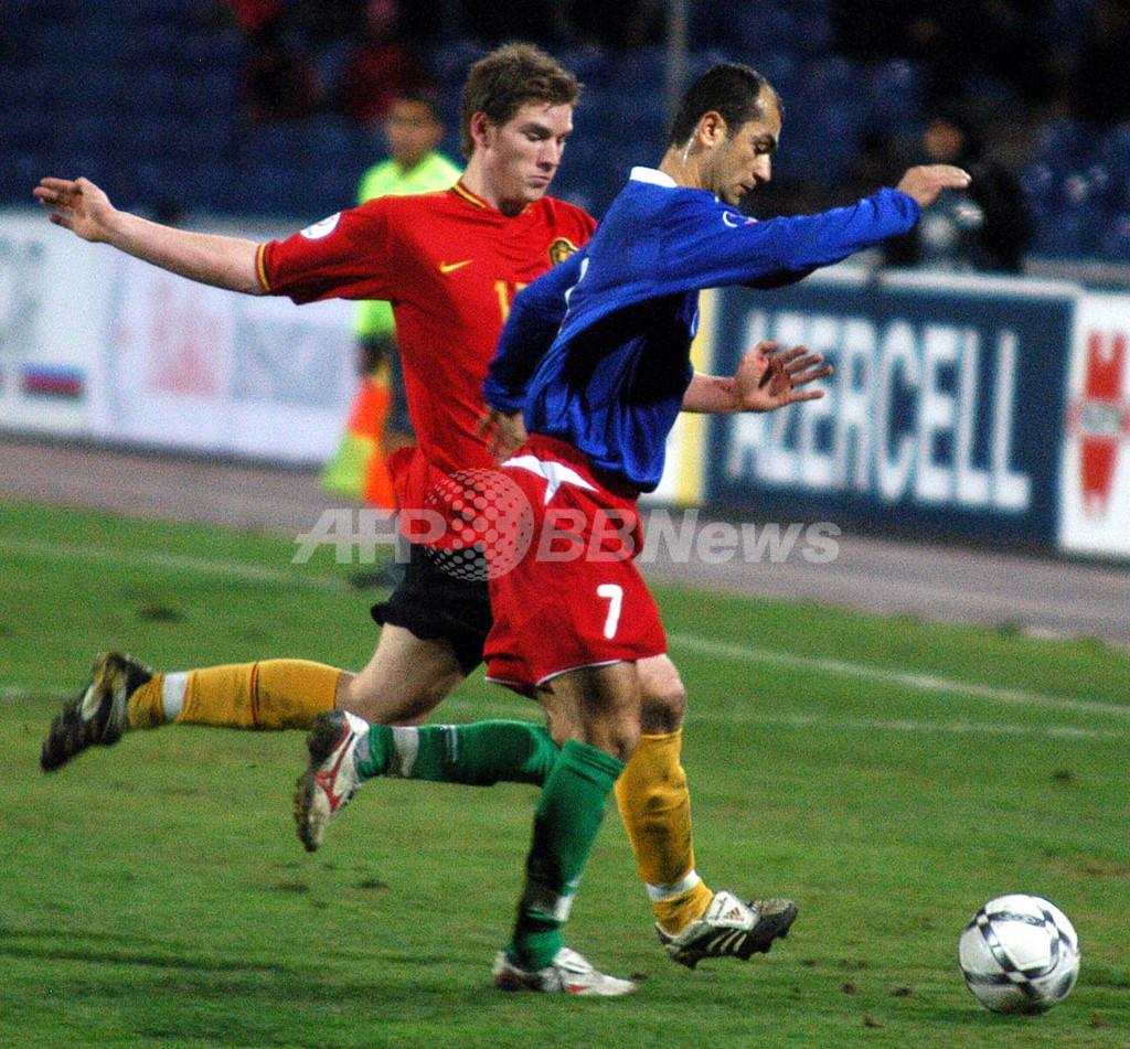 <サッカー 欧州選手権2008・予選>ベルギー 最終戦でアゼルバイジャンに勝利