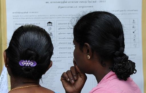 タミル人政党が圧勝、スリランカ北部州初の議会選
