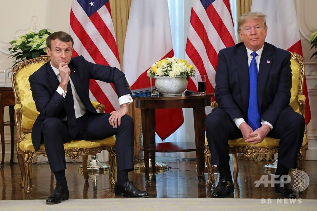 米仏トルコの首脳が衝突、NATO会議に暗雲