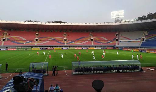 北朝鮮対韓国のW杯予選はスコアレス、無観客で生中継もなし
