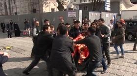 動画:イスタンブール大学で衝突相次ぐ、「イスラム国」めぐり
