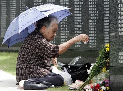 安倍首相、沖縄戦戦没者の追悼式に出席