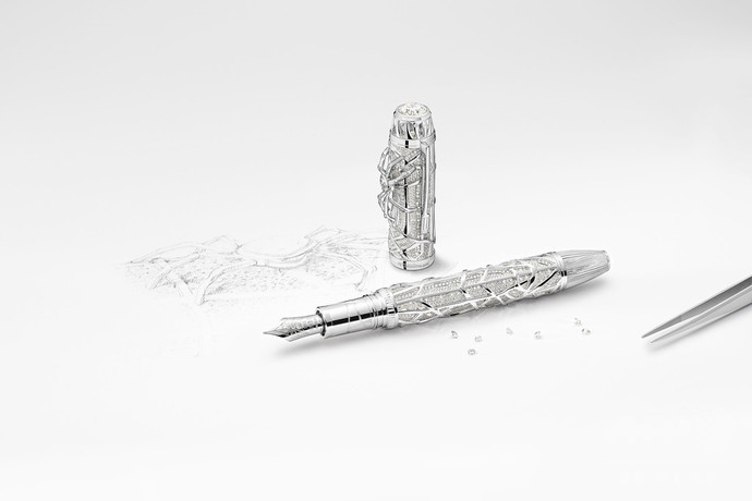 約2億円相当、「モンブラン」ダイヤモンド製の蜘蛛が輝く新作万年筆