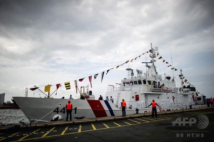 マニラ港に日本供与の最初の巡視船が到着 フィリピン