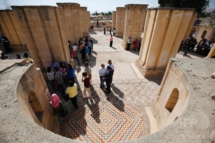 パレスチナで8世紀のモザイク床...