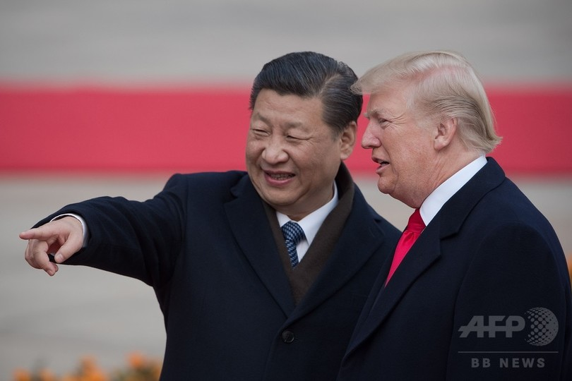 米朝首脳会談に向け中国と日本から激励、トランプ大統領